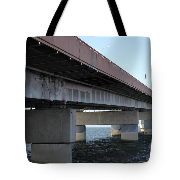 San Mateo Bridge In The California Bay Area 5d21897 Tote Bag by Wingsdomain Art and Photography