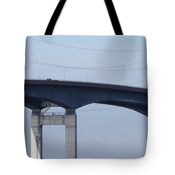 San Mateo Bridge In The California Bay Area 7d21910 Tote Bag by Wingsdomain Art and Photography