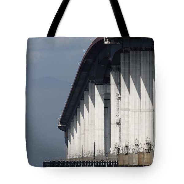 San Mateo Bridge In The California Bay Area 7d21935 Tote Bag by Wingsdomain Art and Photography