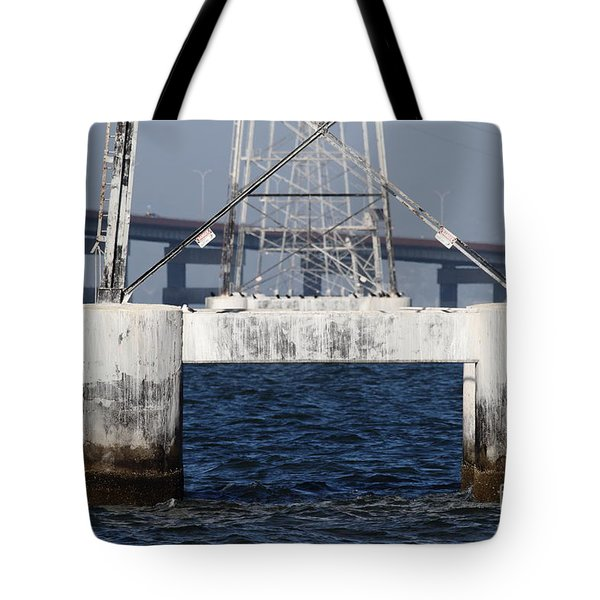 San Mateo Bridge In The California Bay Area 7d21943 Tote Bag by Wingsdomain Art and Photography