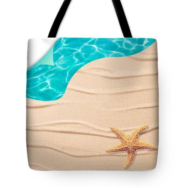 Sand Background Tote Bag by Amanda Elwell