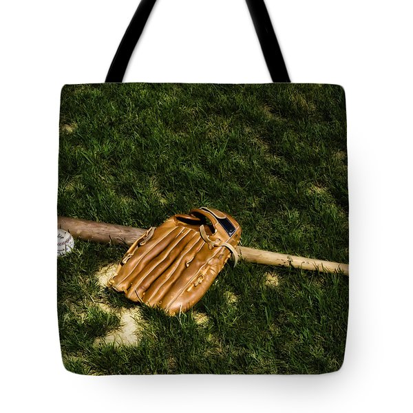 Sand Lot Baseball Tote Bag by Bill Cannon