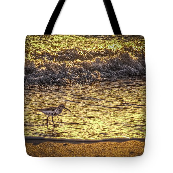 Sand Piper Tote Bag by Marvin Spates