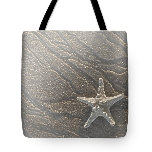 Sand Prints and Starfish II Tote Bag by Susan Candelario