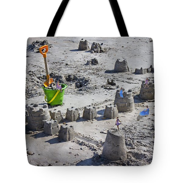 Sandcastle Squatters Tote Bag by Betsy C  Knapp