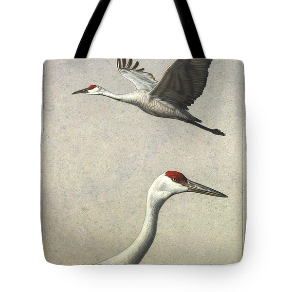 Sandhill Cranes Tote Bag by James W Johnson