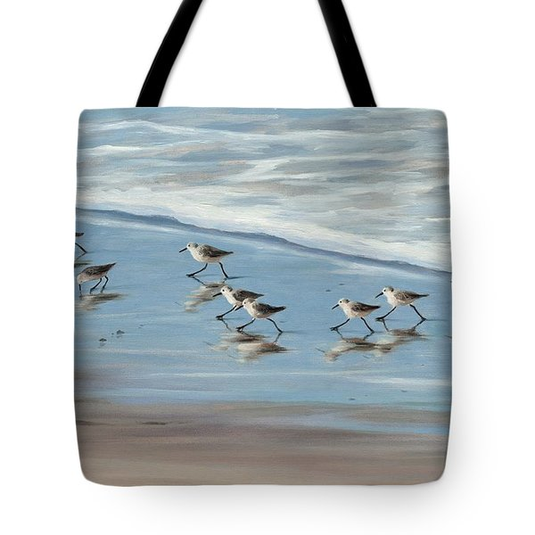 Sandpipers Tote Bag by Tina Obrien