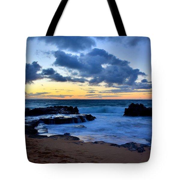 Sandy Beach Sunrise 6 - Oahu Hawaii Tote Bag by Brian Harig