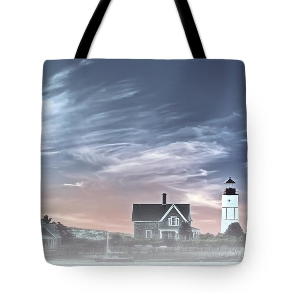Sandy Neck Lighthouse Tote Bag by Susan Candelario