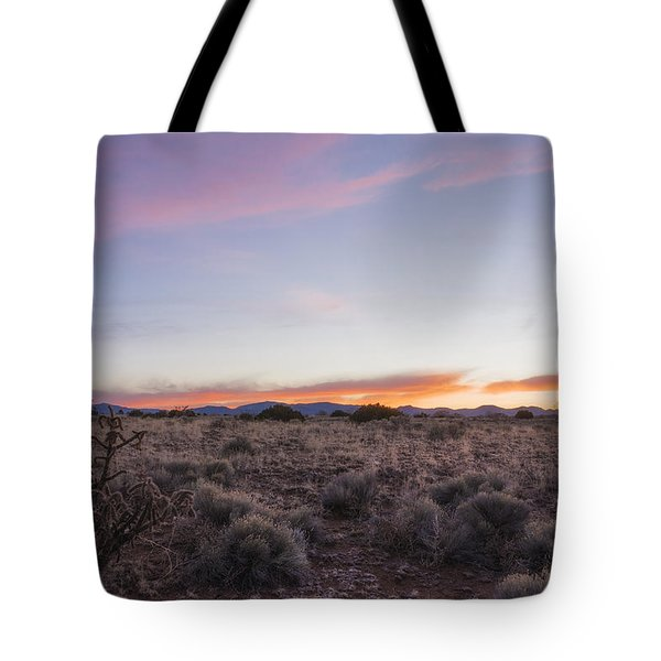Sangre De Christo Mountains Sunrise 2 - Santa Fe New Mexico Tote Bag by Brian Harig