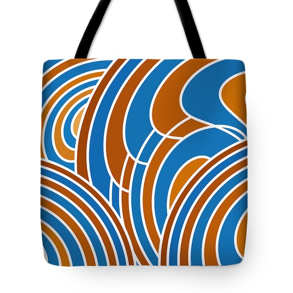 Sanguine And Blue Abstract Tote Bag by Frank Tschakert