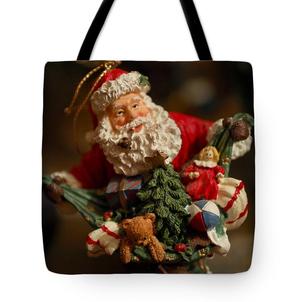 Santa Claus - Antique Ornament - 04 Tote Bag by Jill Reger