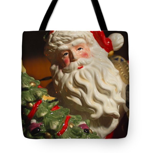 Santa Claus - Antique Ornament - 10 Tote Bag by Jill Reger