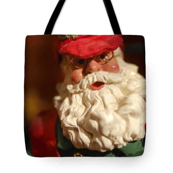 Santa Claus - Antique Ornament - 16 Tote Bag by Jill Reger