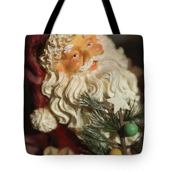 Santa Claus - Antique Ornament - 18 Tote Bag by Jill Reger