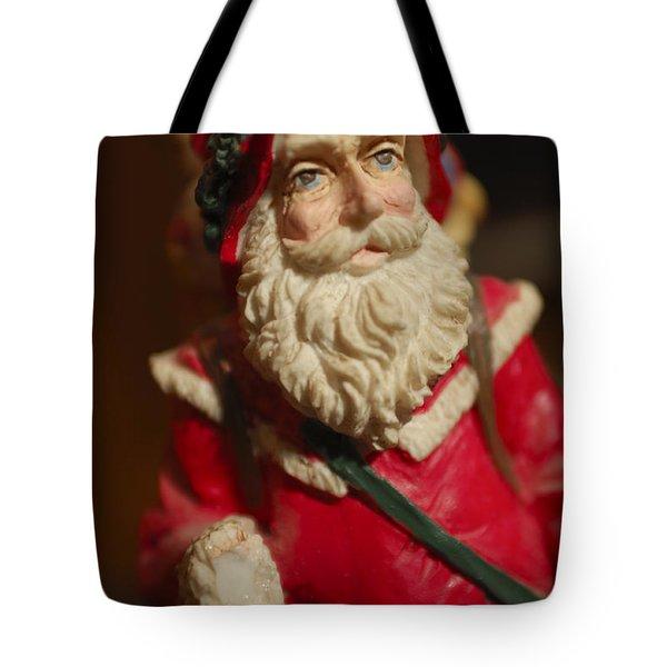 Santa Claus - Antique Ornament - 21 Tote Bag by Jill Reger