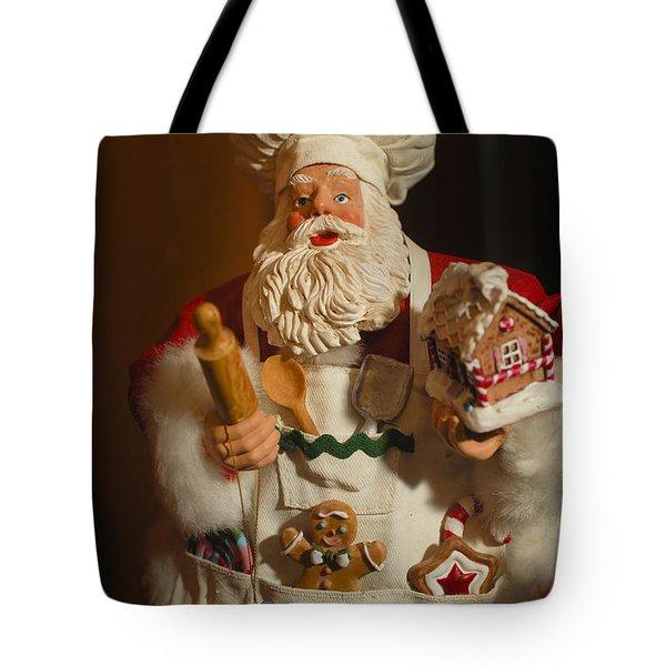 Santa Claus - Antique Ornament - 22 Tote Bag by Jill Reger