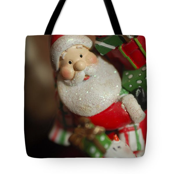 Santa Claus - Antique Ornament - 28 Tote Bag by Jill Reger