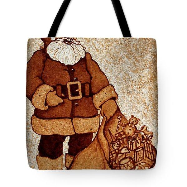 Santa Claus Bag Tote Bag by Georgeta  Blanaru