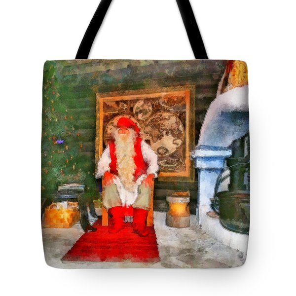 Santa Claus Tote Bag by George Rossidis