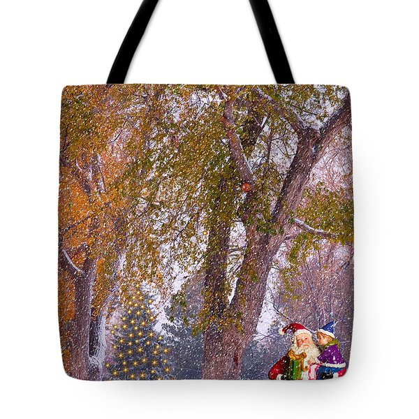 Santa Claus In the Snow Tote Bag by James BO  Insogna