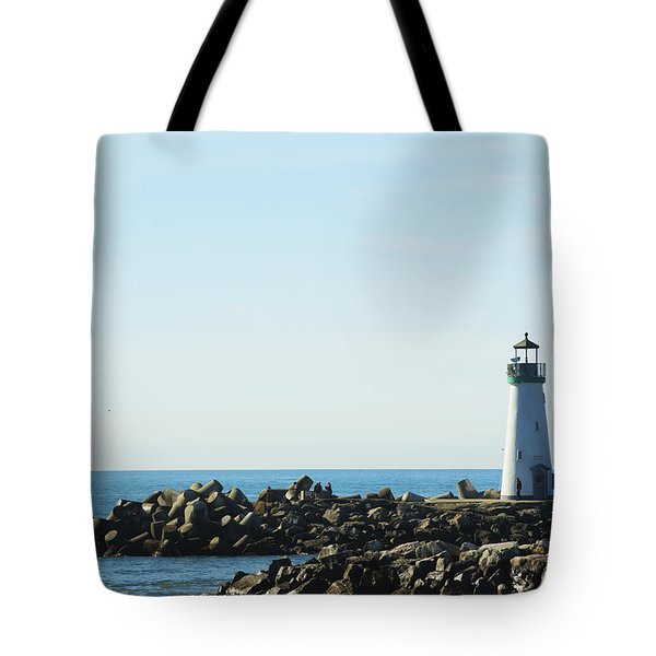 Santa Cruz California Lighthouse Tote Bag by Barbara Snyder