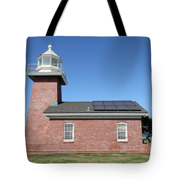 Santa Cruz Lighthouse Surfing Museum California 5d23942 Tote Bag by Wingsdomain Art and Photography