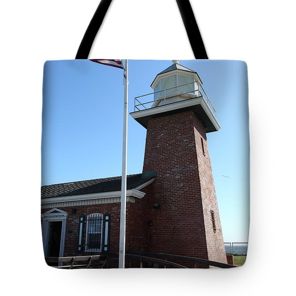 Santa Cruz Lighthouse Surfing Museum California 5d23948 Tote Bag by Wingsdomain Art and Photography