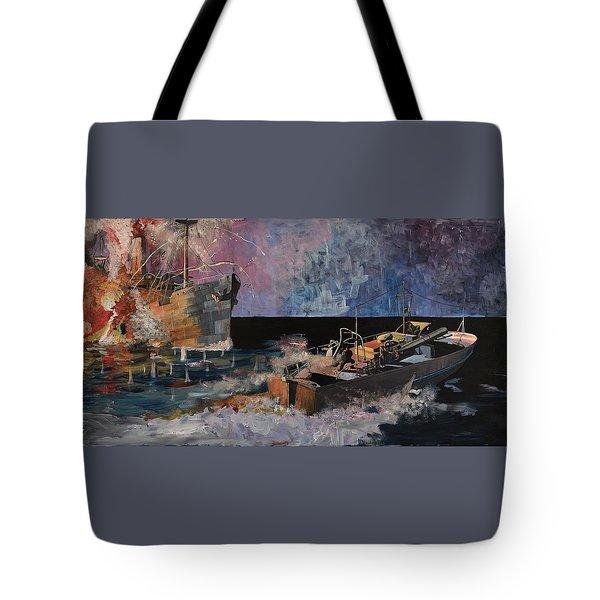 Santa Eliza Martyred Tote Bag by Ray Agius