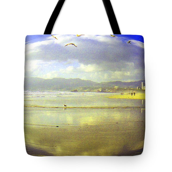 Santa Monica Beach Tote Bag by Jerome Stumphauzer