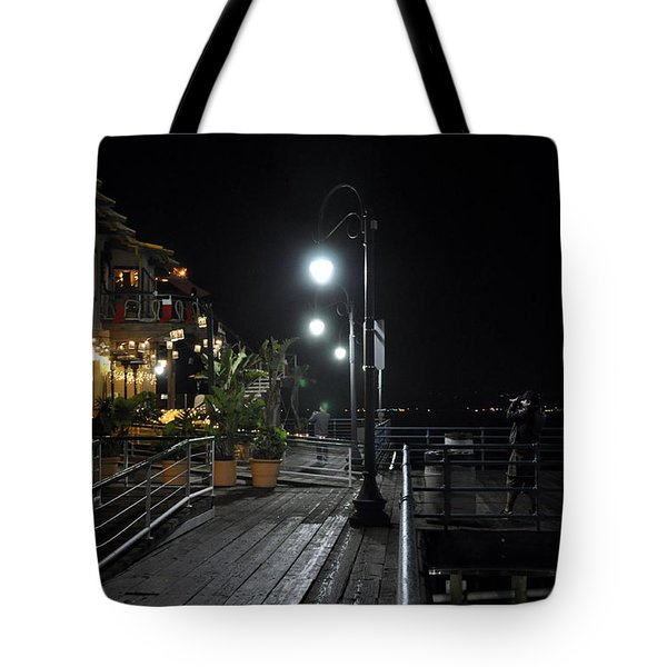 Santa Monica Pier Tote Bag by Gandz Photography