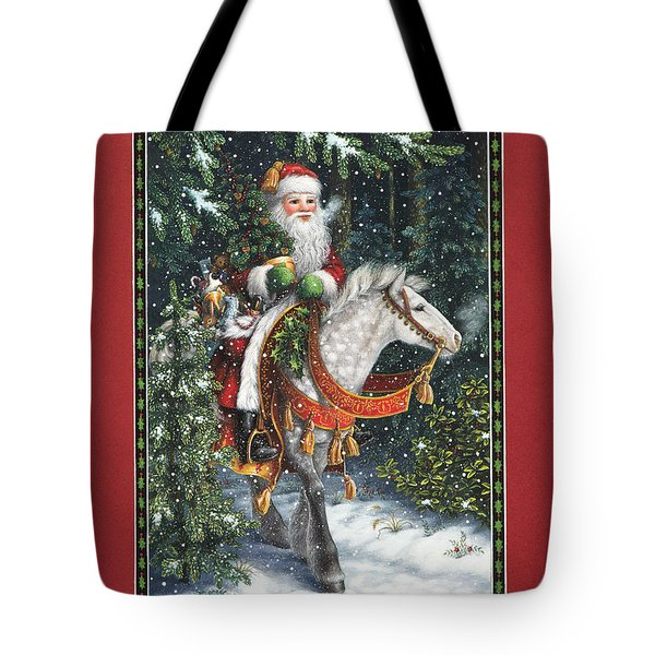 Santa Of The Northern Forest Tote Bag by Lynn Bywaters