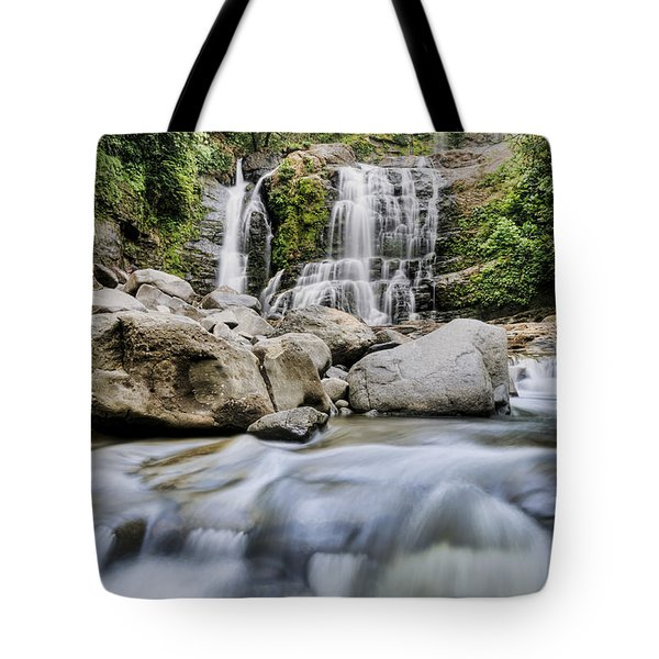 Santo Cristo Falls Tote Bag by Oscar Gutierrez
