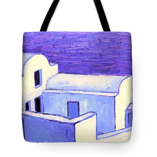 Santorini Houses Tote Bag by Ana Maria Edulescu