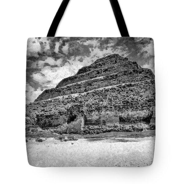 Saqqara pyramid Tote Bag by George Rossidis