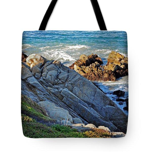 Sarcophagus Formation On Seaside Rocks Tote Bag by Susan Wiedmann