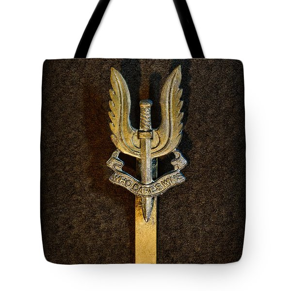 SAS - Special Air Service - Who Dares Wins Tote Bag by Paul Ward