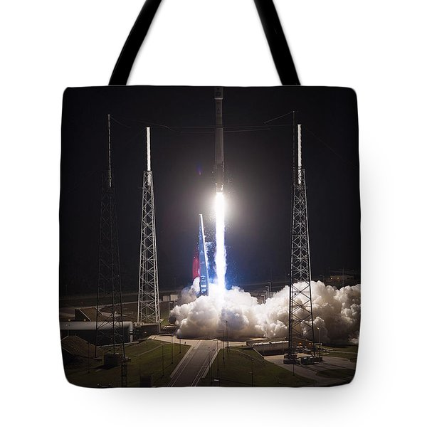Satellite Launch Tote Bag by Movie Poster Prints