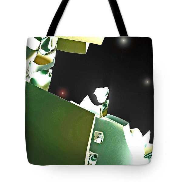 Satellite View Tote Bag by First Star Art
