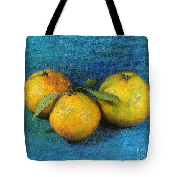 Satsumas Tote Bag by Judi Bagwell