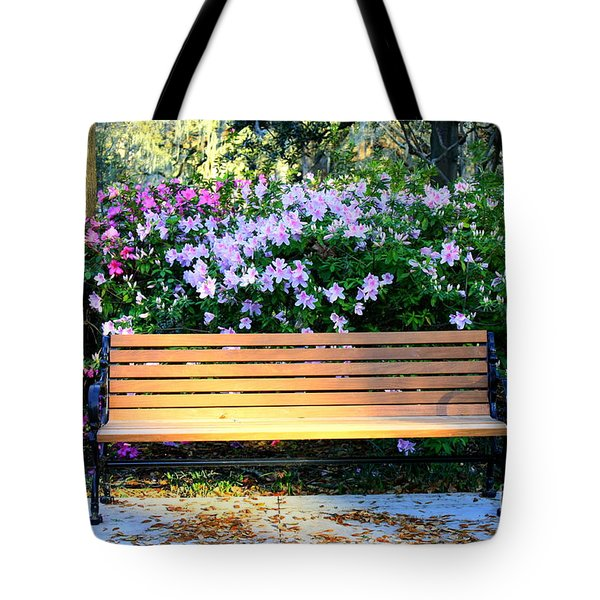 Savannah Bench Tote Bag by Carol Groenen