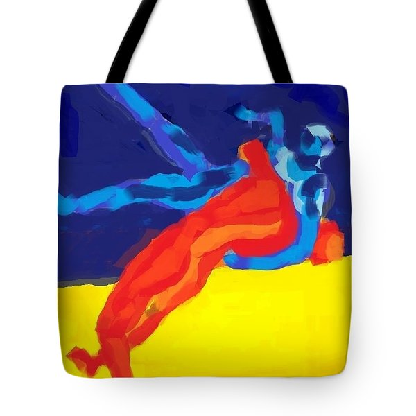 Save olympic wrestling Tote Bag by Hilde Widerberg