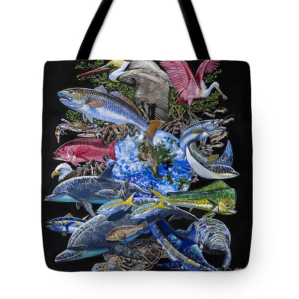 Save Our Seas In008 Tote Bag by Carey Chen
