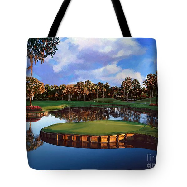Sawgrass 17th Hole Tote Bag by Tim Gilliland