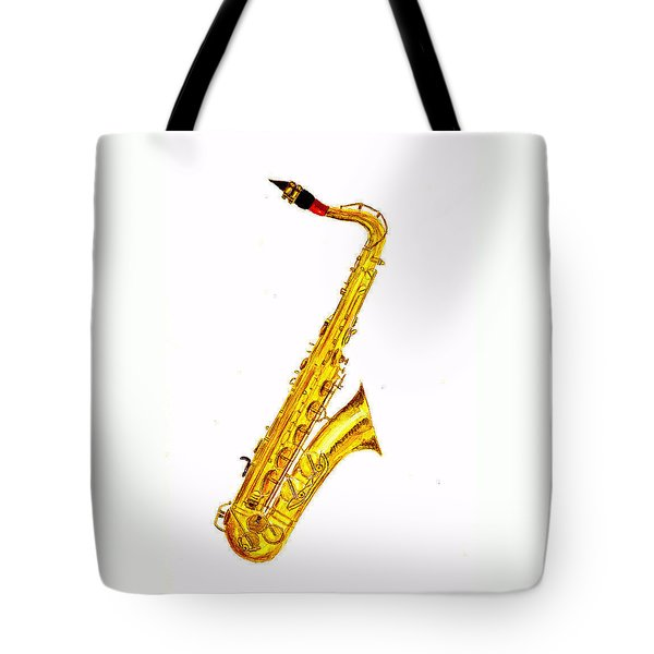 Saxophone Tote Bag by Michael Vigliotti