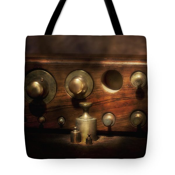 Scale Weights Still Life II Tote Bag by Tom Mc Nemar