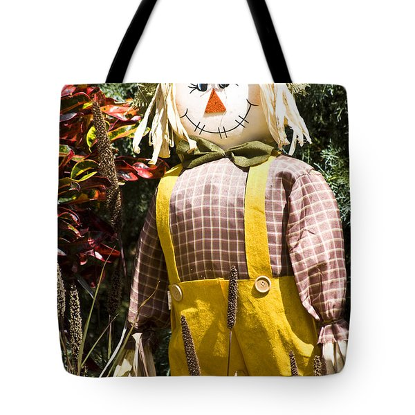 Scare Crow Tote Bag by Carolyn Marshall
