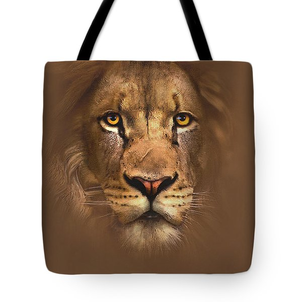 Scarface Lion Tote Bag by Robert Foster