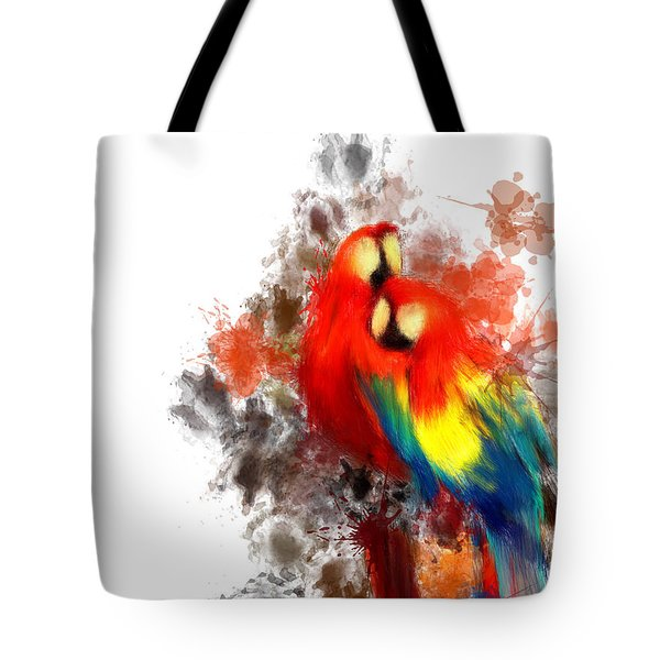 Scarlet Macaw Tote Bag by Lourry Legarde