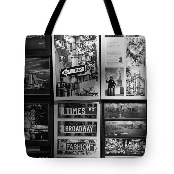 SCENES OF NEW YORK in BLACK AND WHITE Tote Bag by ROB HANS